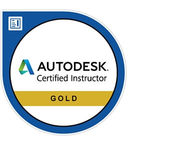 Gold Autodesk Certified Instructor logo