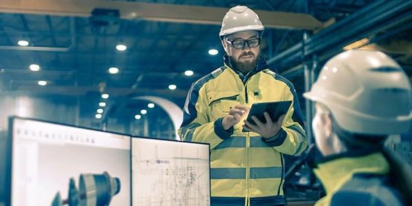 施工業者は、建設現場でタブレットなどのデバイスを使用して AutoCAD の設計にアクセスできます