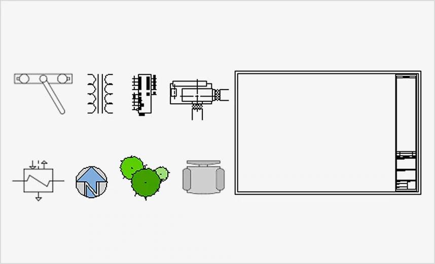 CAD ブロックの図面ファイルーブロックライブラリ