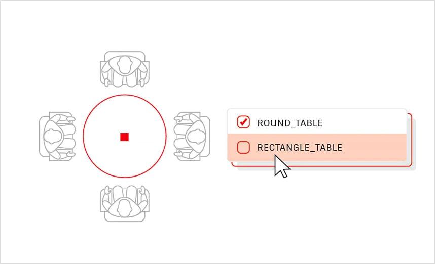 ダイナミックブロックはダイナミック プロパティが追加されたブロックの図