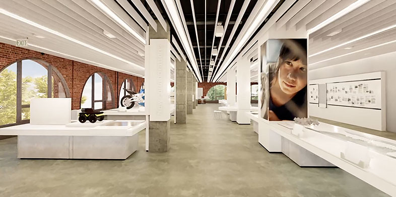 Rendering of the redesigned Autodesk Gallery in San Francisco