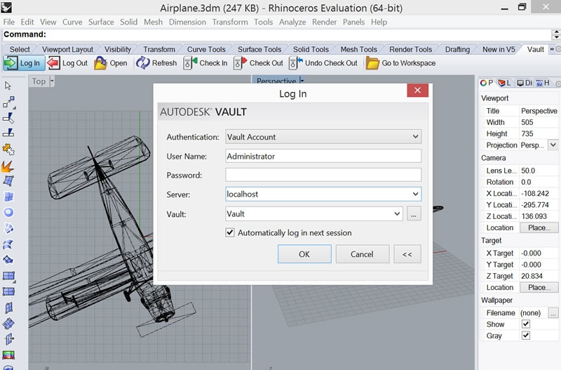 RhinoToVault | Certified Apps | Autodesk Developer Network