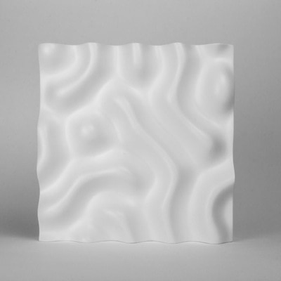 CNC Milled Reaction Diffusion Sculpture by Reza Ali