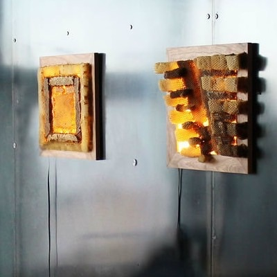 Honey Comb Light Boxes by Jennifer Berry