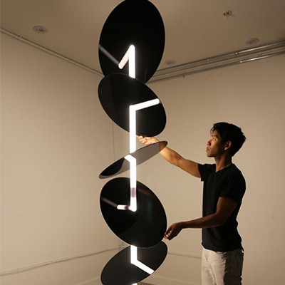 Course Through: A Kinetic Sculpture by Jimmy Chion