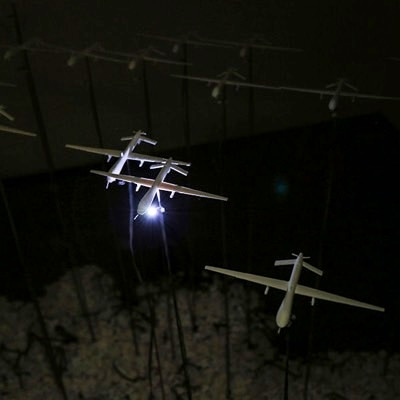 3D Printed Drone Strike Data Installation  by Joseph Delappe