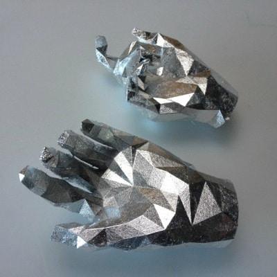 Silver Leaf a 3D Print by Joseph Delappe