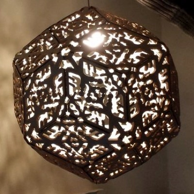 Icosahedron Lamp by Dustin Feider
