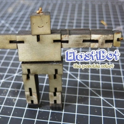 Elasti-Bot: the posable wooden robot by Sam Haynor