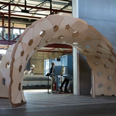Design and Fabrication of a Plywood Pavilion by Riccardo La Magna