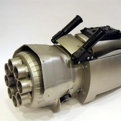 Gattling Gun Cyborg Arm by Mario Caicedo Langer