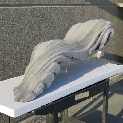 FOG BANK: Sculpting Felt with an OMAX Waterjet by Kristina Larsen and Sebastian Martin