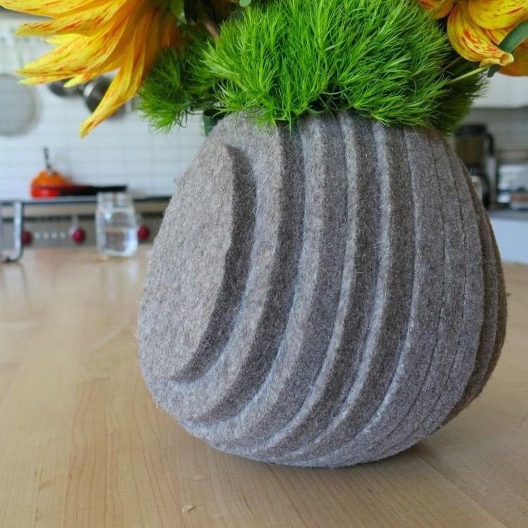 Layered Felt Vase by Kristina Larsen