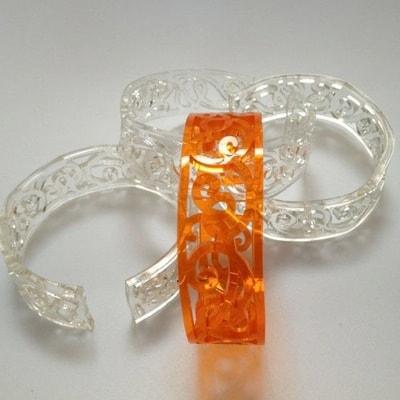 Acrylic Bracelets by Rachel McConnell