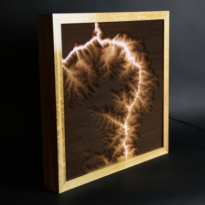 Topographical Lamp by Scott McIndoe