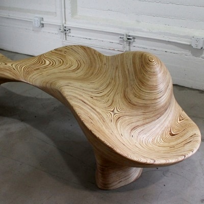 Strata Bench by Adrien Segal