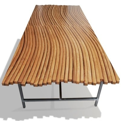 Oak Wine Barrel Coffee Table by John Whitmarsh