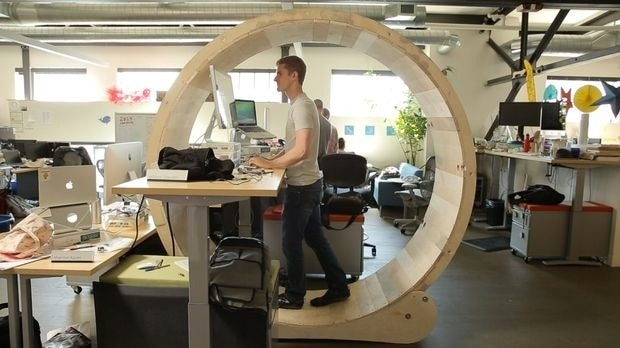 """Hamster Wheel Standing Desk"" by Robb Godshaw and Will Doenlen"