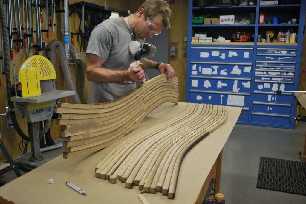 """Oak Wine Barrel Coffee Table"" in the making by John Whitmarsh"