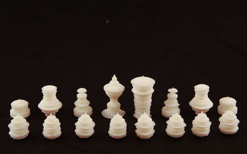 """Spoken word chess pieces"" by Thiago Hersan"