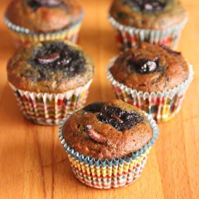 Blueberry grub muffins by Rima Khalek