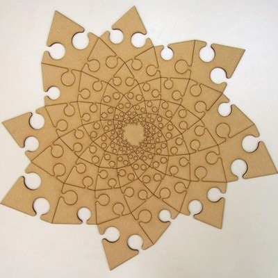 Fibonacci Spiral Jigsaw puzzle by John Edmark