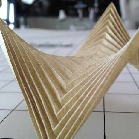 Laser Etched Paper for Complex Folding by Andreas Bastian