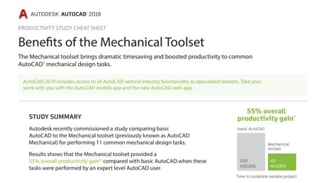 AutoCAD Productivity Study cheat sheet - AutoCAD® Mechanical