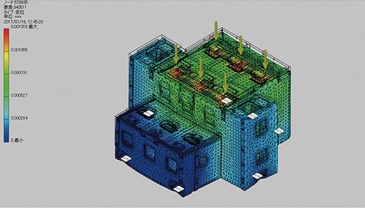 Inventorで制作した超精密ワイヤ放電加工機のCG画像