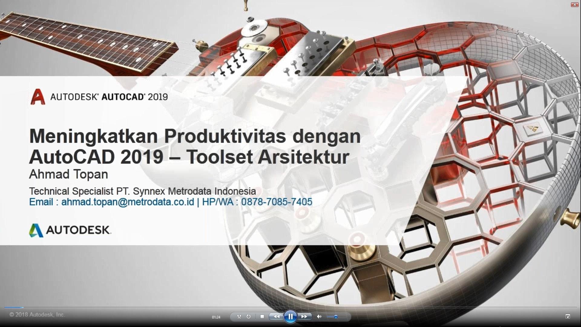 Meningkatkan Produktivitas dengan AutoCAD 2019: Toolset Arsitektur