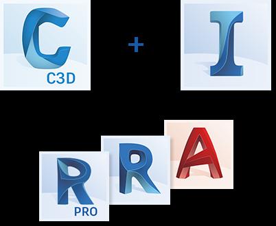 logos for civil 3d infraworks revit recap autocad