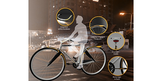 KAWACH: Enhancing Safety in Roadster Bicycle
