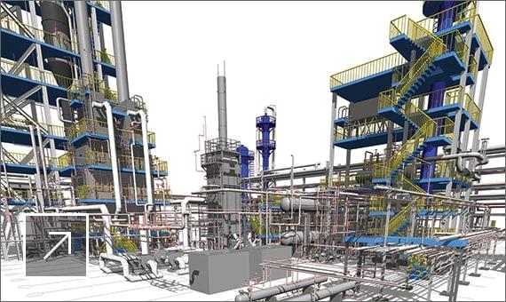 Эксплуатационная BIM-модель технологического комплекса