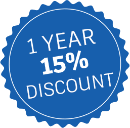 15% discount bubble