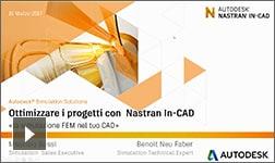 Ottimizza i tuoi progetti con Nastran In-CAD: la simulazione FEM nel tuo CAD! - 16/03/12017