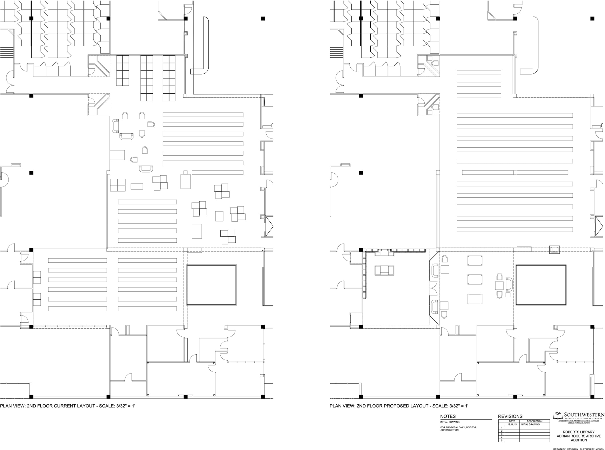 Remaking A Library With Autocad Mobile Hvac Cad Drawing Drawings Of Proposed Extension