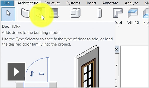 Tạo cửa wall trong Autodesk Revit