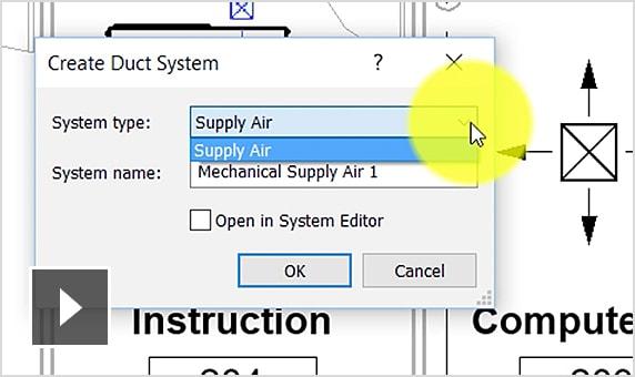 Tạo hệ thống ống gió (duct)