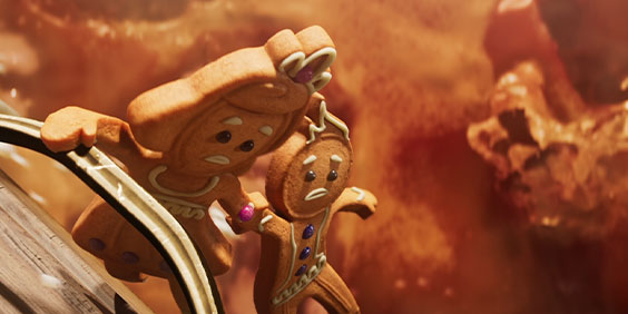 Gingerbread couple from Throne of Eldraine trailer
