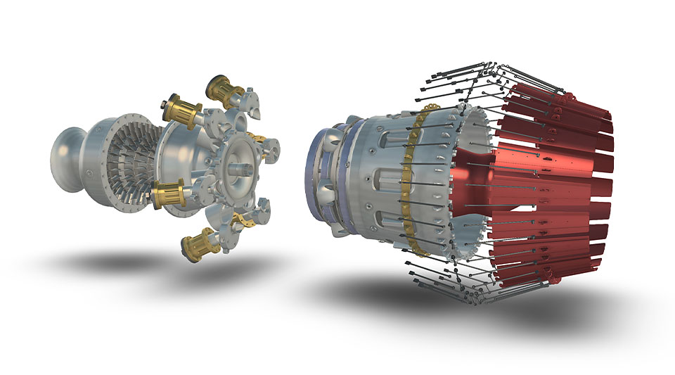 Realistic visualisation of a jet engine