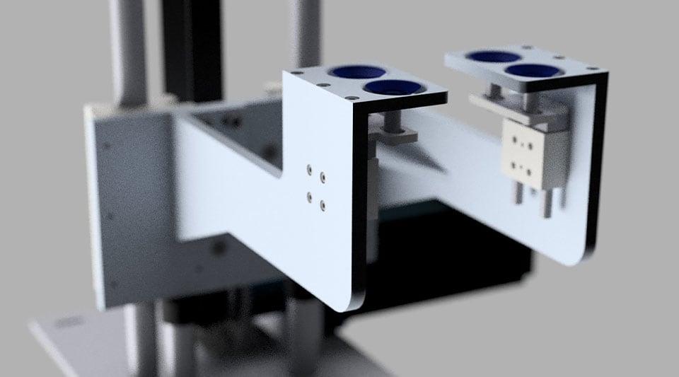 Software de diseño generativo que muestra un modelo 3D renderizado de un producto de metal