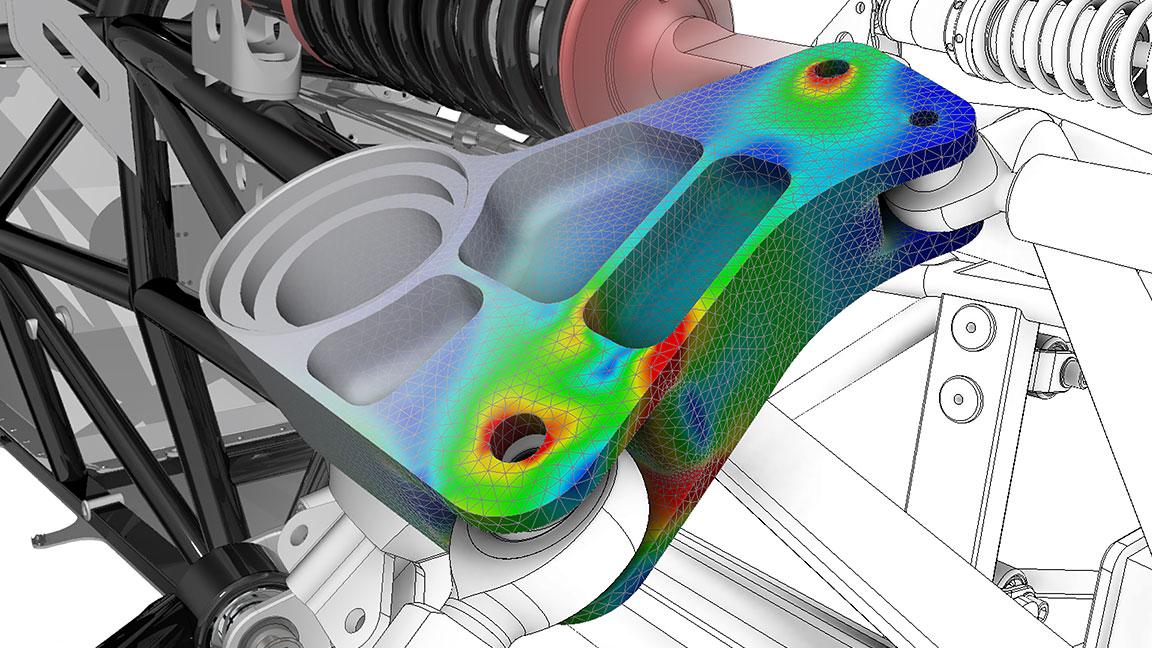Modèle3D de plusieurs pièces usinées connectées affichant des images infrarouges et thermiques