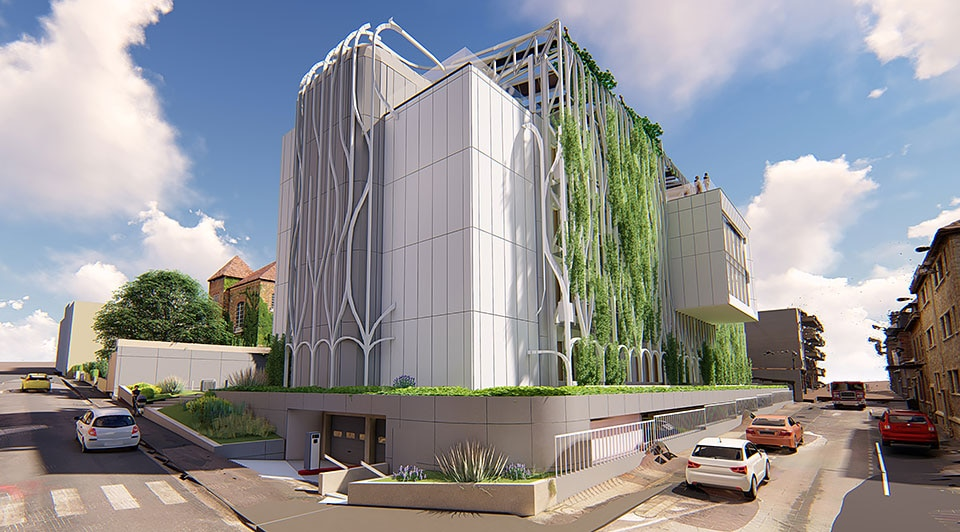 Rendering of the refurbished CDC building