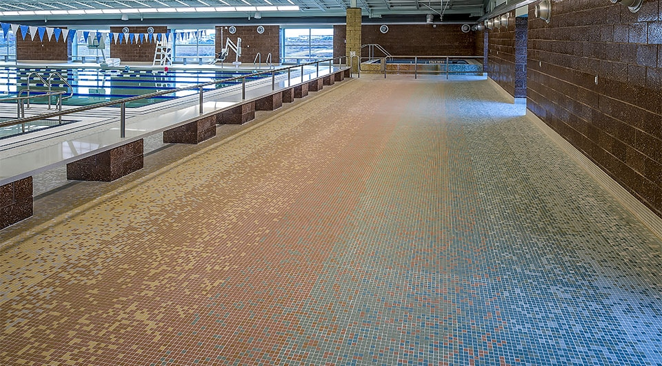 YK Fitness Center Indoor Pool Tile AutoCAD Design
