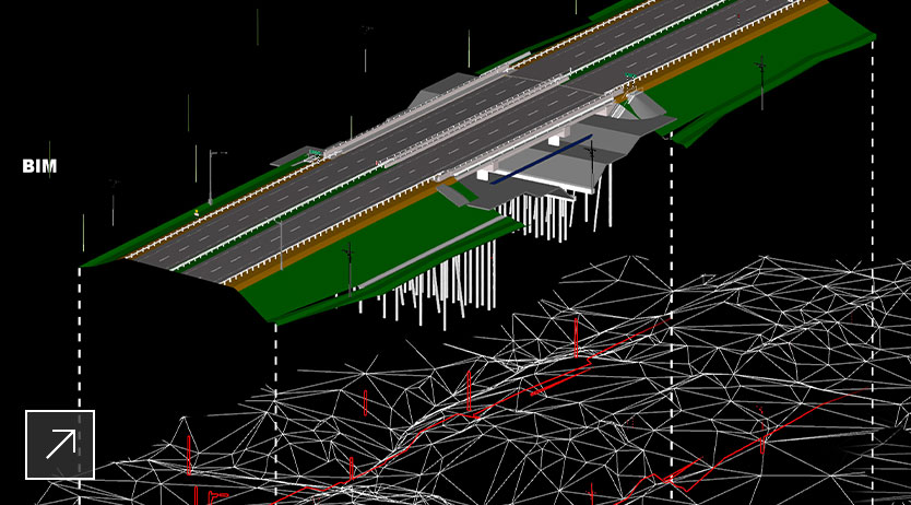 Exploded Axonometric View of BIM + GIS + UAS