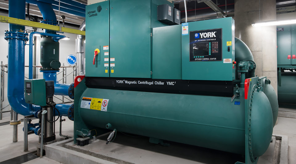 A Johnson Controls York YMC2 chiller