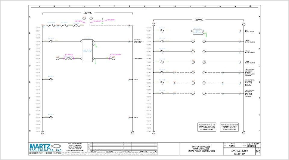 使用 AutoCAD 和 Electrical 工具组合制作的图形