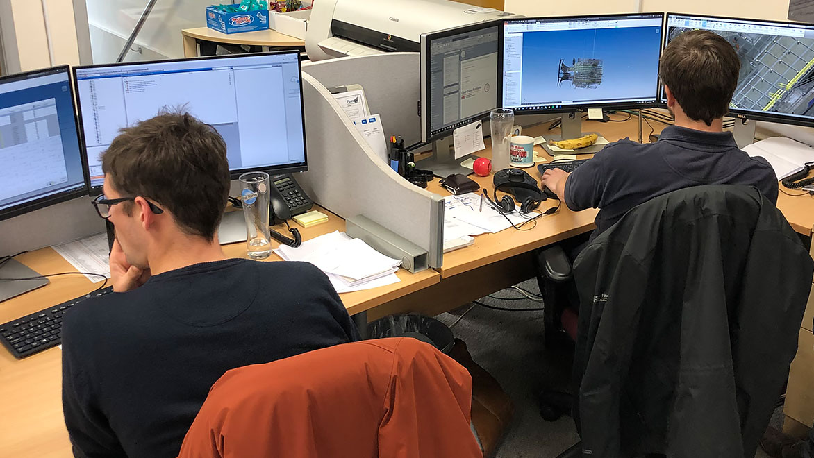 Image of the NOV FGS engineering team using Autodesk software products