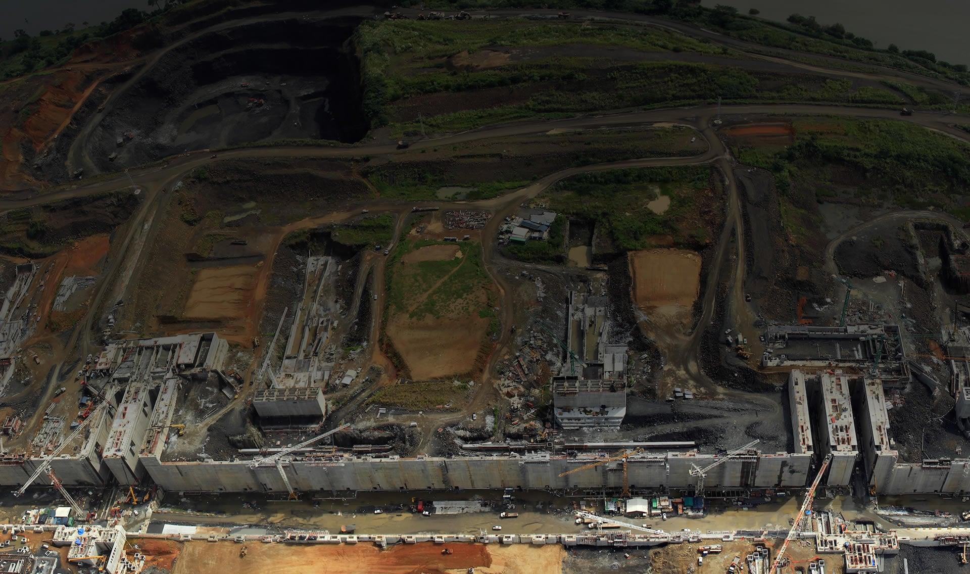 プロジェクトの航空写真
