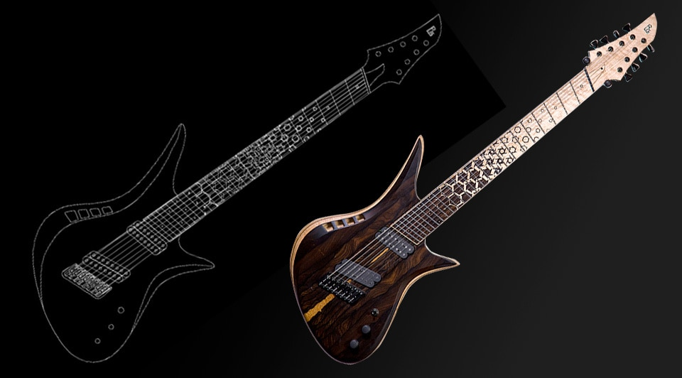 Guitar design in AutoCAD